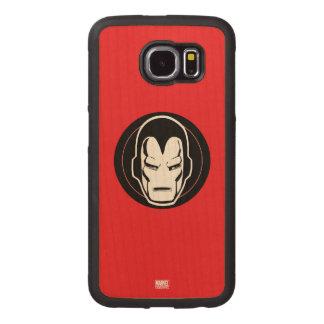 Iron Man Retro Icon Wood Phone Case