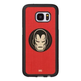 Iron Man Retro Icon Wood Samsung Galaxy S7 Case