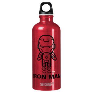 Iron Man Stylized Line Art