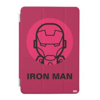 Iron Man Stylized Line Art Icon iPad Mini Cover