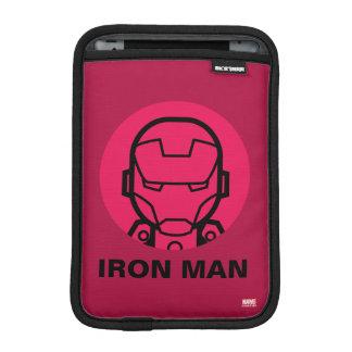 Iron Man Stylized Line Art Icon iPad Mini Sleeves