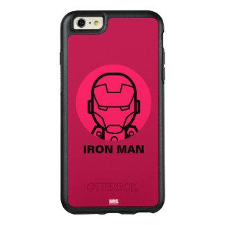 Iron Man Stylized Line Art Icon OtterBox iPhone 6/6s Plus Case