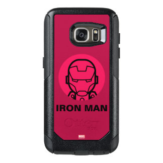 Iron Man Stylized Line Art Icon OtterBox Samsung Galaxy S7 Case