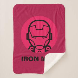 Iron Man Stylized Line Art Icon Sherpa Blanket