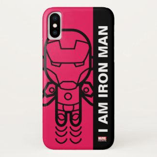 Iron Man Stylized Line Art iPhone X Case