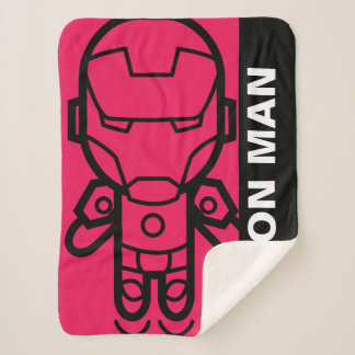Iron Man Stylized Line Art Sherpa Blanket