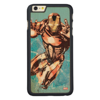 Iron Man Watercolor Character Art Carved® Maple iPhone 6 Plus Case