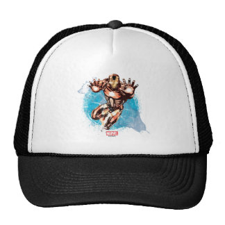 Iron Man Watercolor Character Art Trucker Hat
