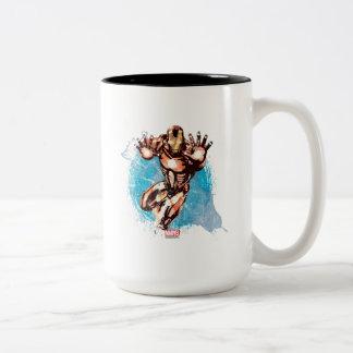 Iron Man Watercolor Character Art Two-Tone Coffee Mug