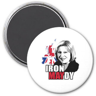 Iron Maydy the Iron Lady - -  3 Inch Round Magnet