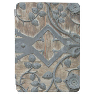 Iron Medieval Lock on Wooden Door iPad Air Cover