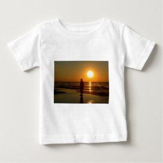 Iron Men Sculpture at Sunset, Crosby, Liverpool UK Baby T-Shirt