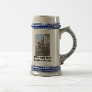 IRON MEN WITH EAGLES' WINGS BEER STEIN