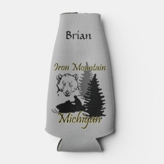 Iron Mountain Michigan Custom Bottle Cooler