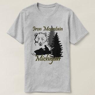 Iron Mountain Michigan Snowmobile Bear Grey SS T-Shirt