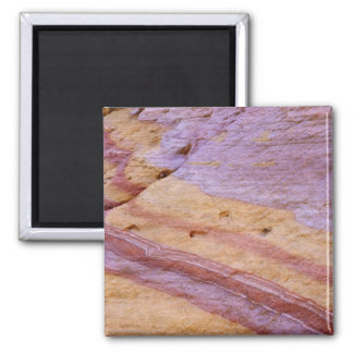 Iron oxides color a sandstone formation square magnet