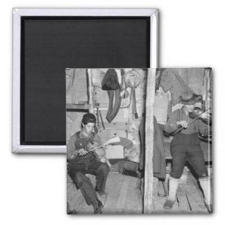 Iron River Fiddle Family, 1930s Fridge Magnet