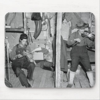 Iron River Fiddle Family, 1930s Mouse Pad