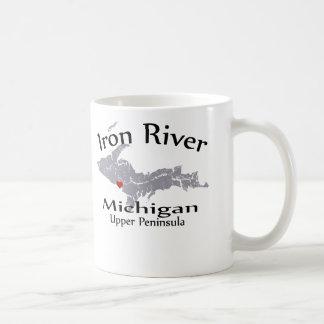 Iron River Michigan Heart Map Design Mug