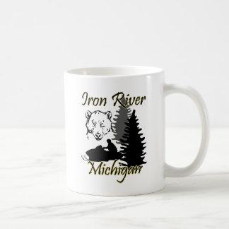 Iron River Michigan Snowmobile Bear Mug
