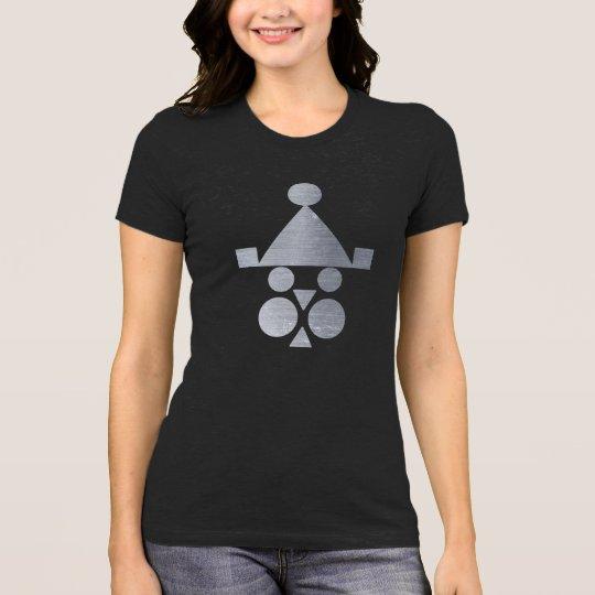 iron santa clause women black tshirt HQH