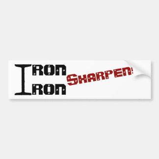 Iron Sharpens Iron sticker with RED Slant