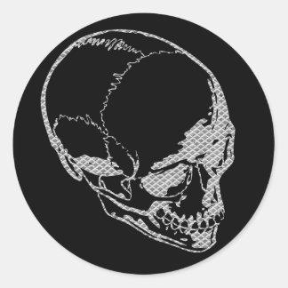 Iron Skull Classic Round Sticker