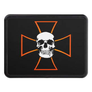 Iron Skull Cross Tow Hitch Cover