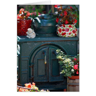 """Iron Stove"" original photography by Lisa Woodburn Card"