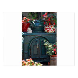 """Iron Stove"" original photography by Lisa Woodburn Postcard"