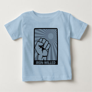 Iron-Willed - Fist - Rising Sun Baby T-Shirt
