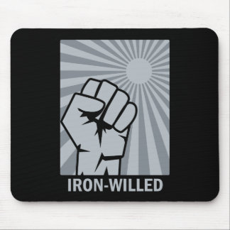 Iron-Willed - Fist - Rising Sun Mousepad. Mouse Pad