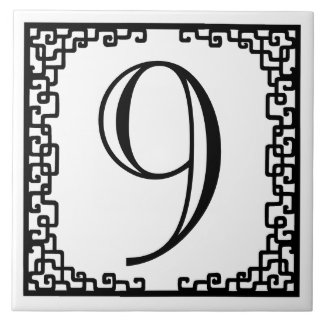 Iron Work Frame Personalized Street Number Ceramic Tiles