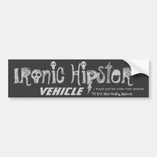 Ironic Hipster Bumper Sticker 2