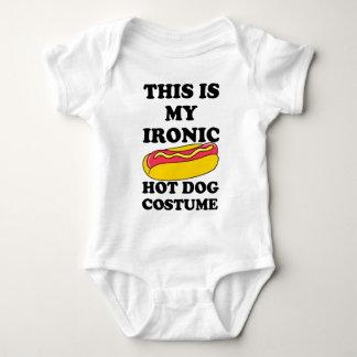 Ironic Hot Dog Costume Baby Bodysuit