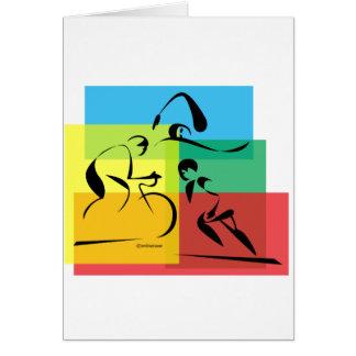 Ironman Abstract 4 Greeting Card