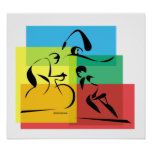 Ironman Abstract Plain4 Posters