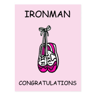 Ironman female Congratulations Postcard