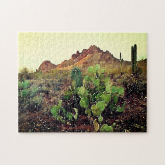 Ironwood Forest National Monument - Watercolor Jigsaw Puzzle
