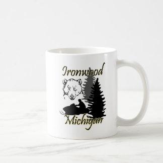 Ironwood Michigan Snowmobile Bear Mug