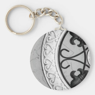 Ironwork Medallion keychain
