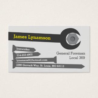 Ironworker Business Card