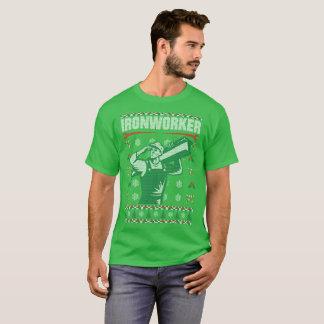 Ironworker Christmas Ugly Sweater Tshirt