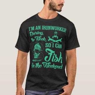 Ironworker Fish Fishing On The Weekend Tshirt