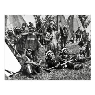 Iroquois Camp Scene in Quebec Postcard