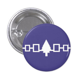 Iroquois Confederacy Flag 1 Inch Round Button
