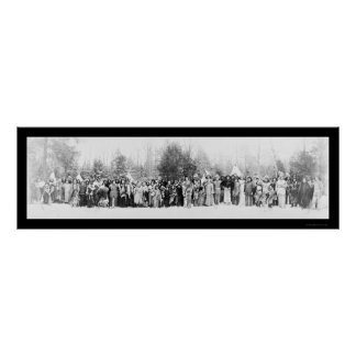 Iroquois Indians Photo 1914 Poster