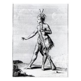 Iroquois Man, inhabitant of Canada Postcard