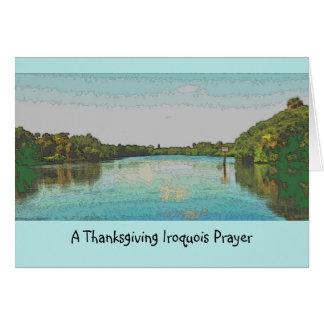 Iroquois thanksgiving card