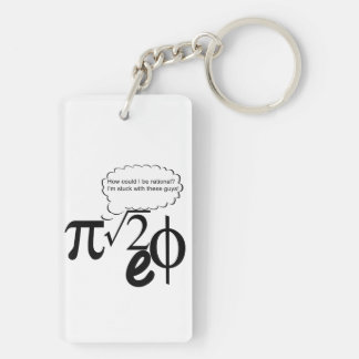 Irrational Buddies Double-Sided Rectangular Acrylic Keychain